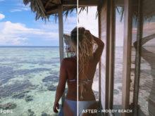 Moody Beach - The Wanderlovers Lightroom Presets - FilterGrade