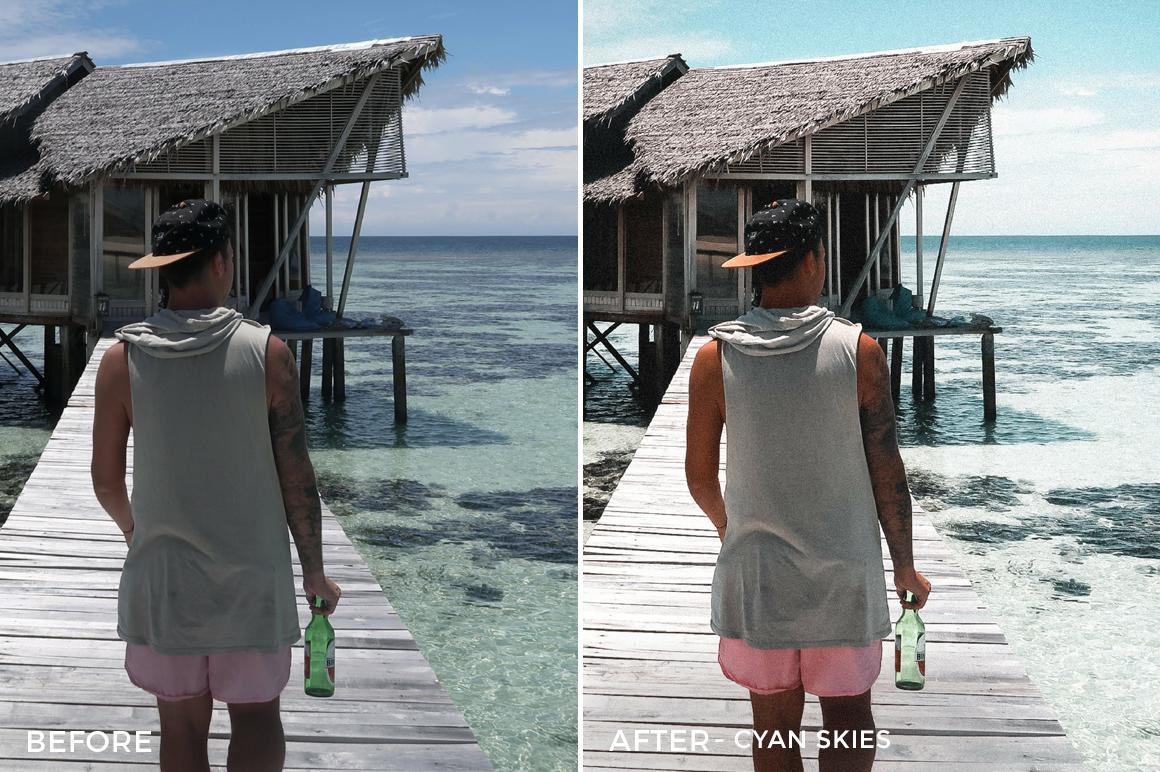 Cyan Skies - The Wanderlovers Lightroom Presets - FilterGrade
