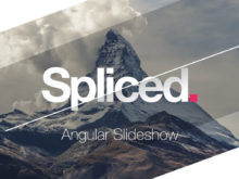 spliced angular slideshow creator for after effects