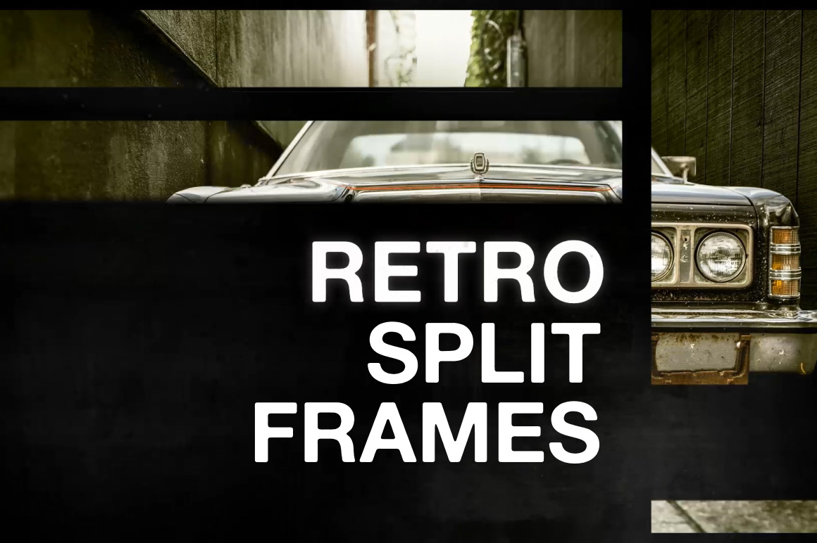Retro Split Frame Slideshow After Effects Template
