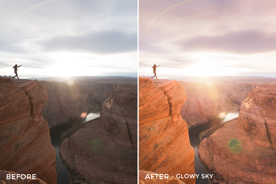 Glowy Sky - Dani the Explorer Lightroom Presets - FilterGrade