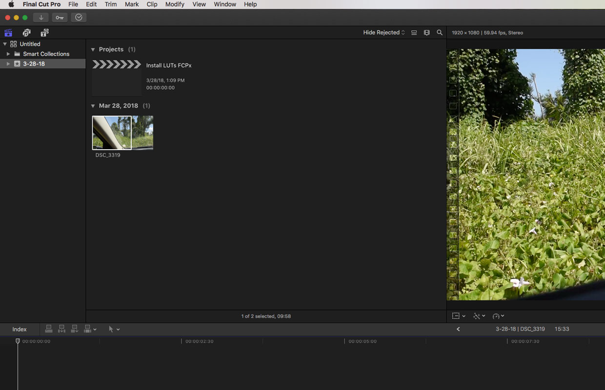 importing clips to final cut pro x
