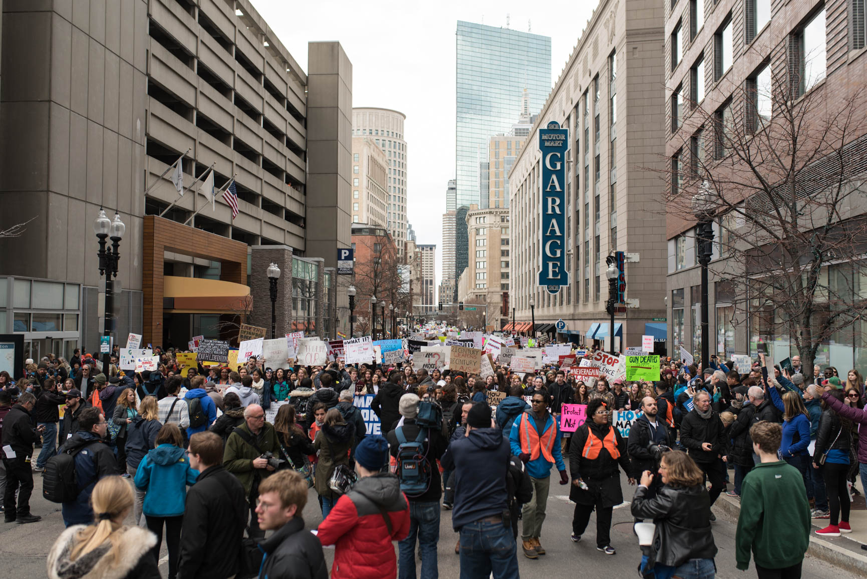 size of protest in boston march for our lives 2018