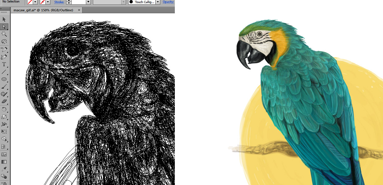 natalka dmitrova illustration process
