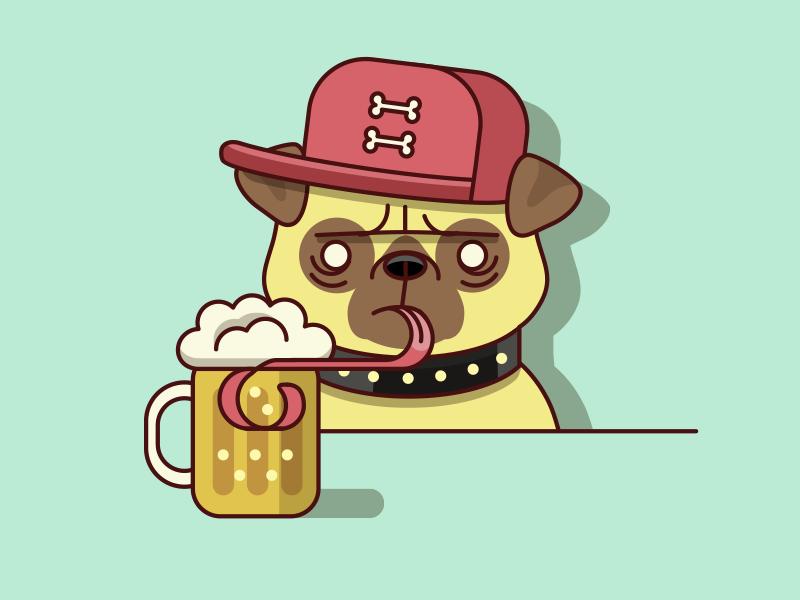 pug illustration