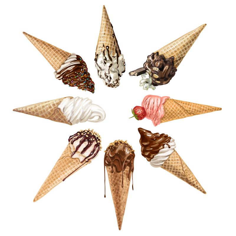 ice cream illustration by Natalka Dmitrova