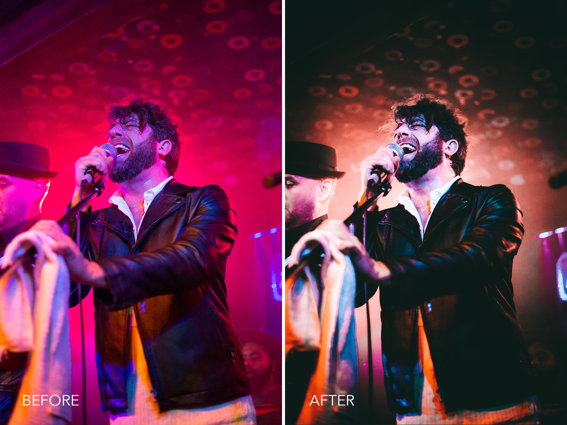 4.Front and Centre - Merrick Winter Live Music Lightroom Presets - FilterGrade