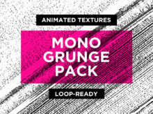 Mono Grunge Animated Textures Pack from Enchanted Studios