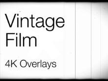 4K vintage film video overlays