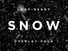 Snow overlays motion graphics template for video editors!