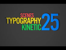 typography animations and scenes in ae template
