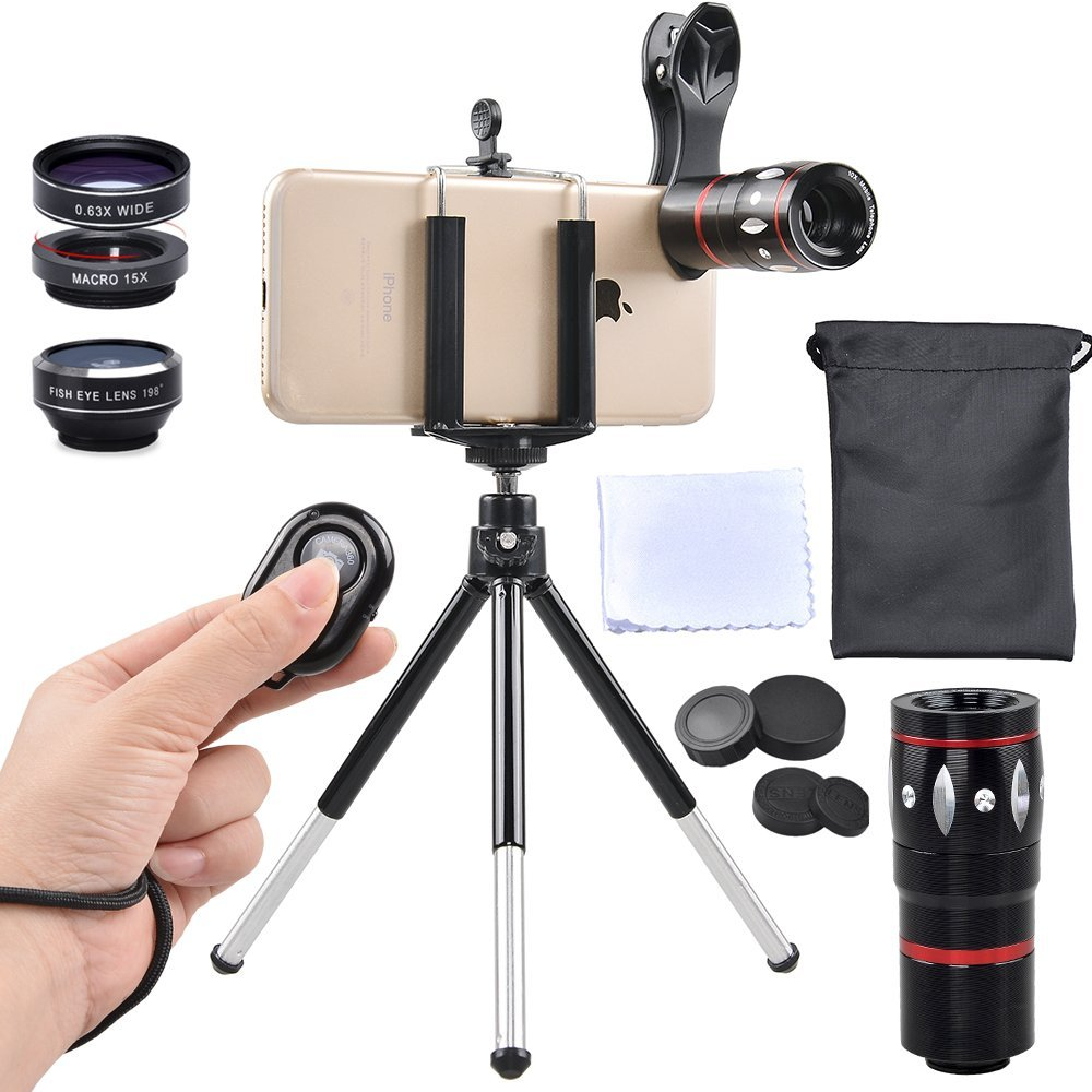 apexel mobile camera lens kit