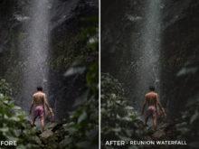 1 Reunion Waterfall - Alex Tritz Lightroom Presets Volume 3 - FilterGrade