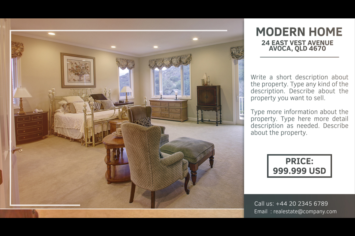 real estate promotional video template