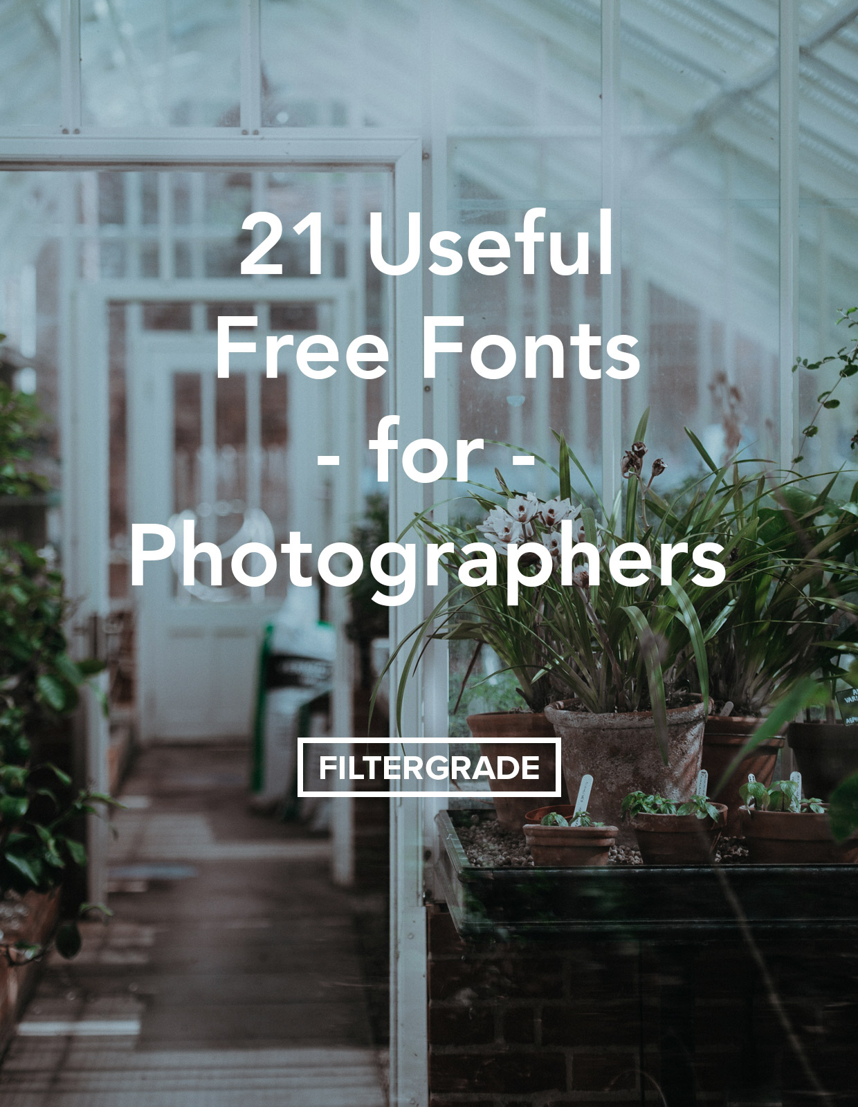 21 Useful Free Fonts for Photographers - FilterGrade