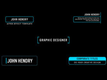 after effects motion graphics template