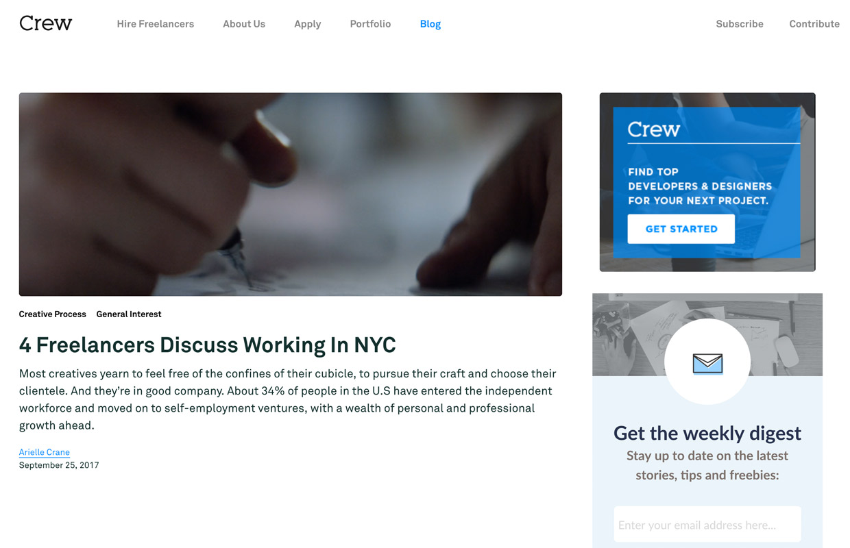 crew freelance blog for business