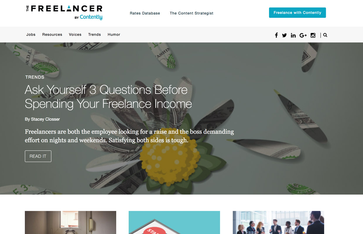 freelancer blog by contently