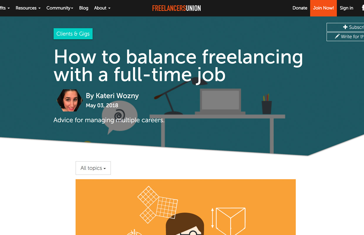 freelancers union community and blog for independent workers