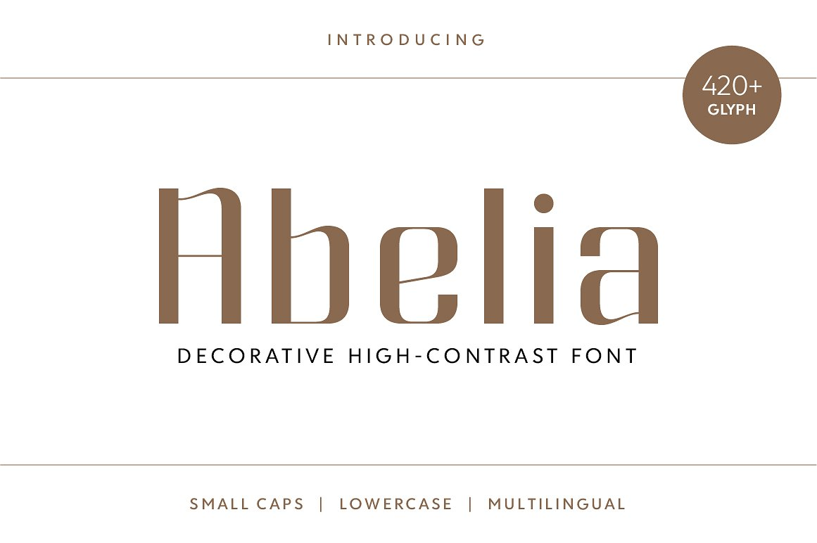 abelia typeface