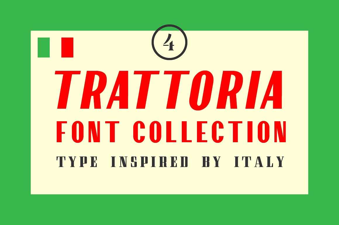 trattoria italy inspired font
