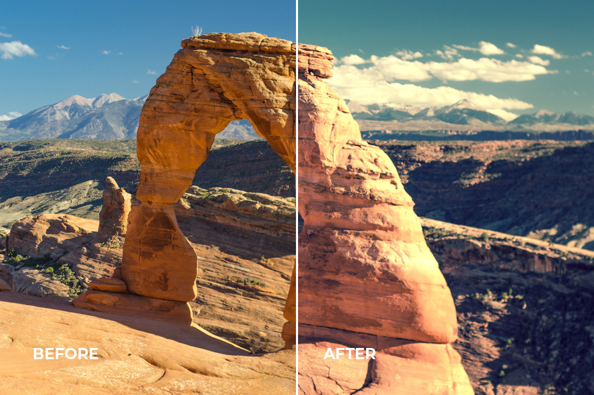 advanced lightroom profiles and creative effects from loaded landscapes