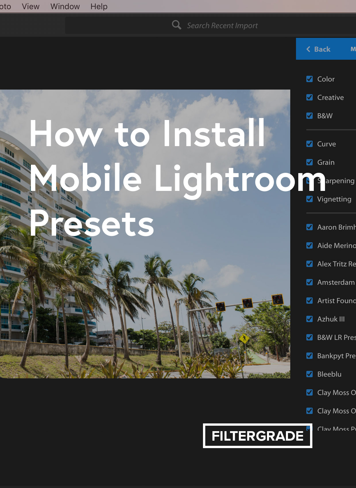 How to Sync Presets from Lightroom Classic to Lightroom CC Mobile