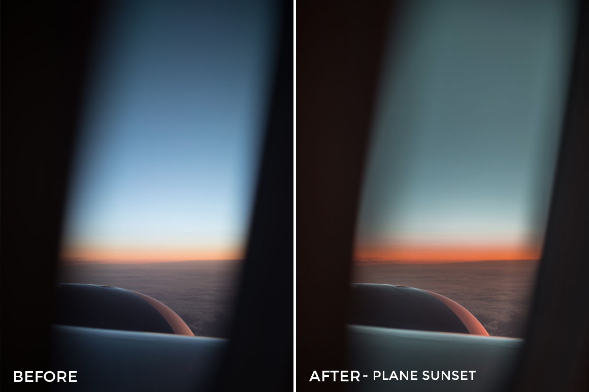 Plane Sunset - Alex Tritz Lightroom Presets Vol. 4 (CANADA PACK) - FilterGrade
