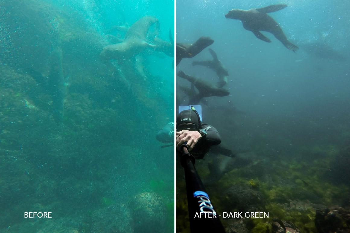 dark green water underwater effect