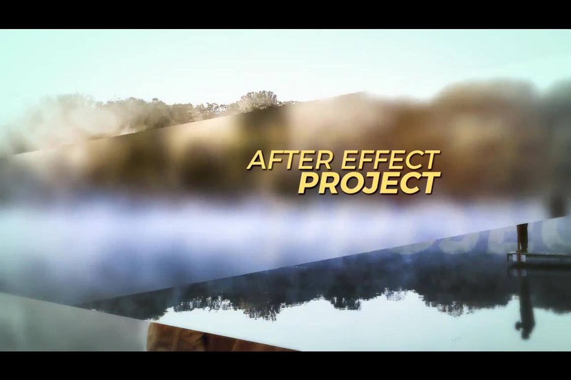 after effects project slideshow template
