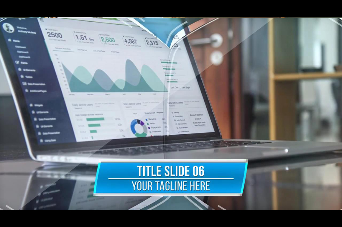 business slideshow presentation template after effects