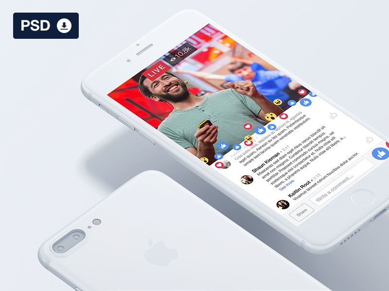 facebook live ui freebie