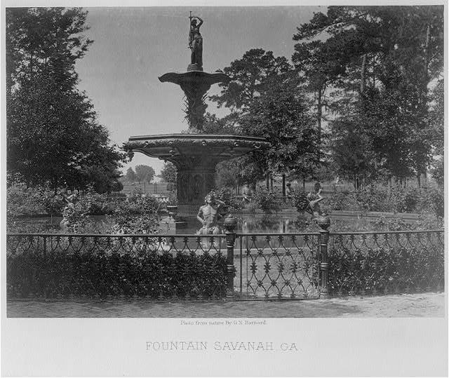 Fountain, Savannah, GA - George Barnard - What is an Albumen Print? - FilterGrade