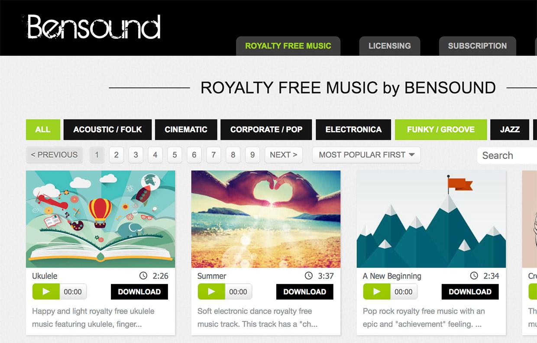 bensound royalty free music