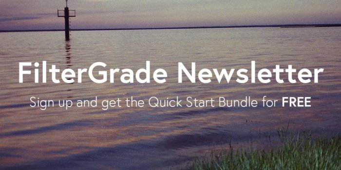 FilterGrade Newsletter, get freebies when you sign up!