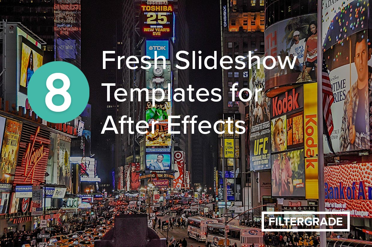 Fresh slideshow templates for After Effects. Kickstart your video marketing efforts with these easy to use templates.