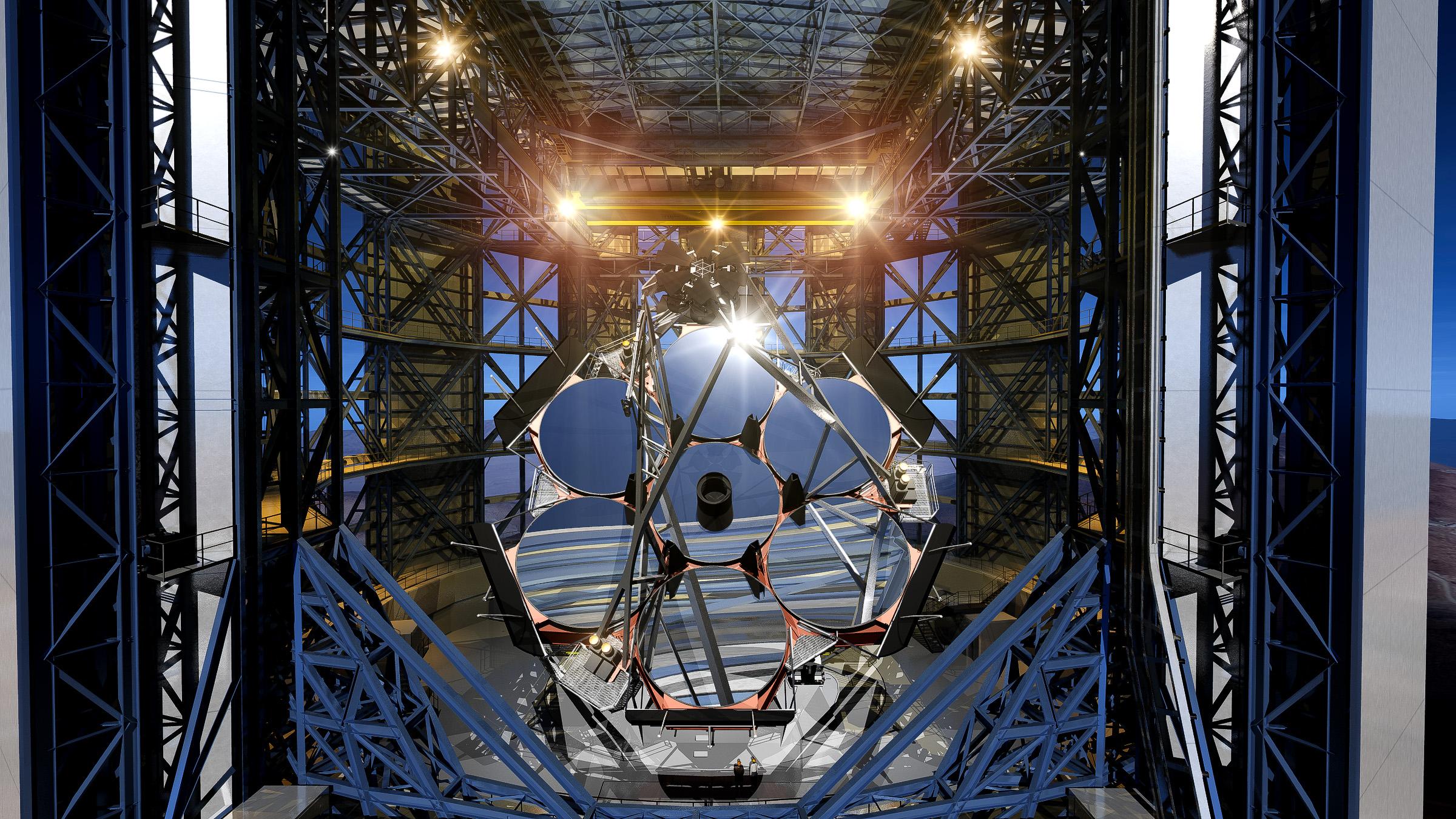 giant magellan telescope rendering