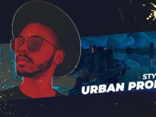 urban cyber punk video opener template