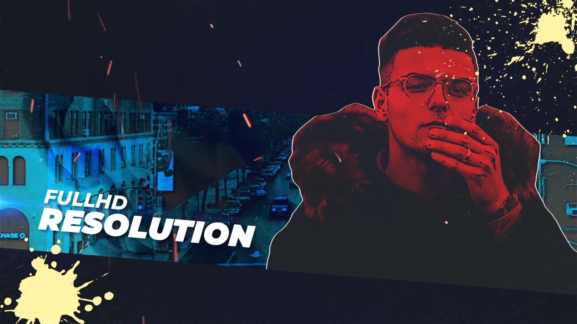 illustration style cyber punk ae template