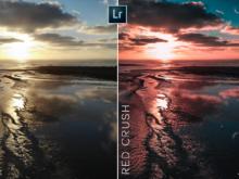 red crush sunset lightroom mobile preset