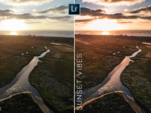 sunset vibes drone presets for lightroom