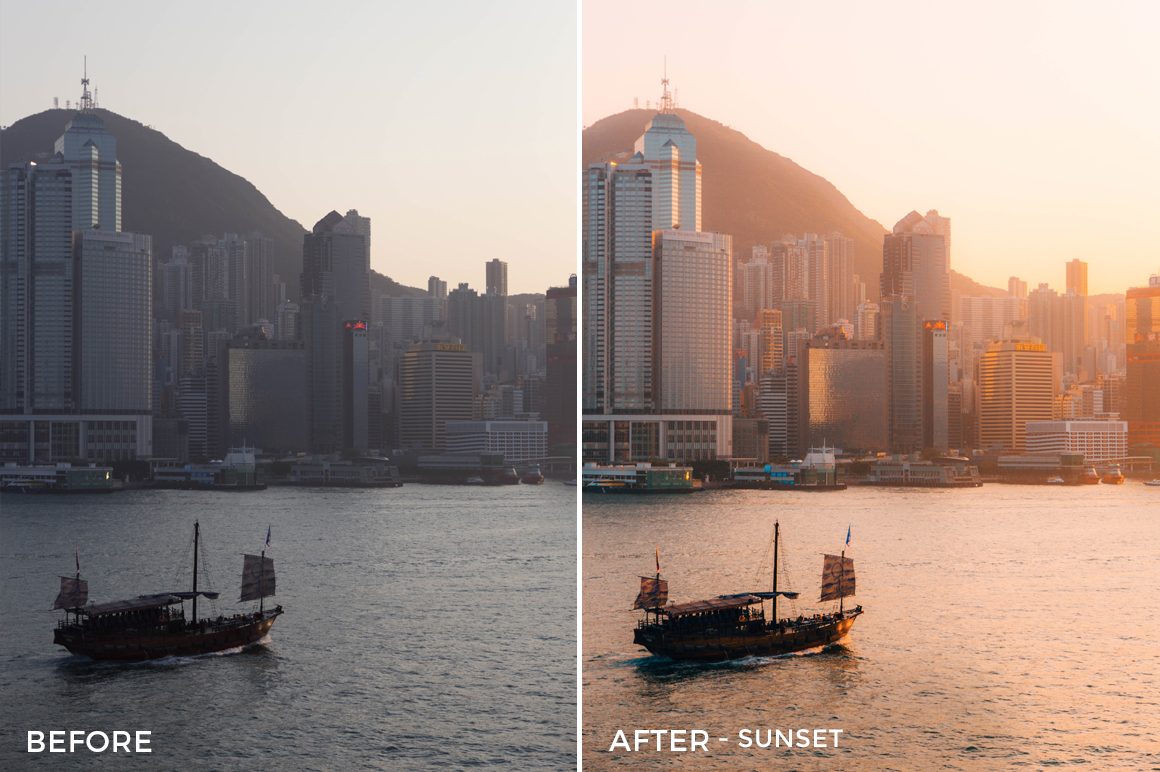 Sunset-Distorted-Lens-Lightroom-Presets-FilterGrade