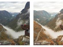 aerial mountain lightroom presets, alessandro citterio