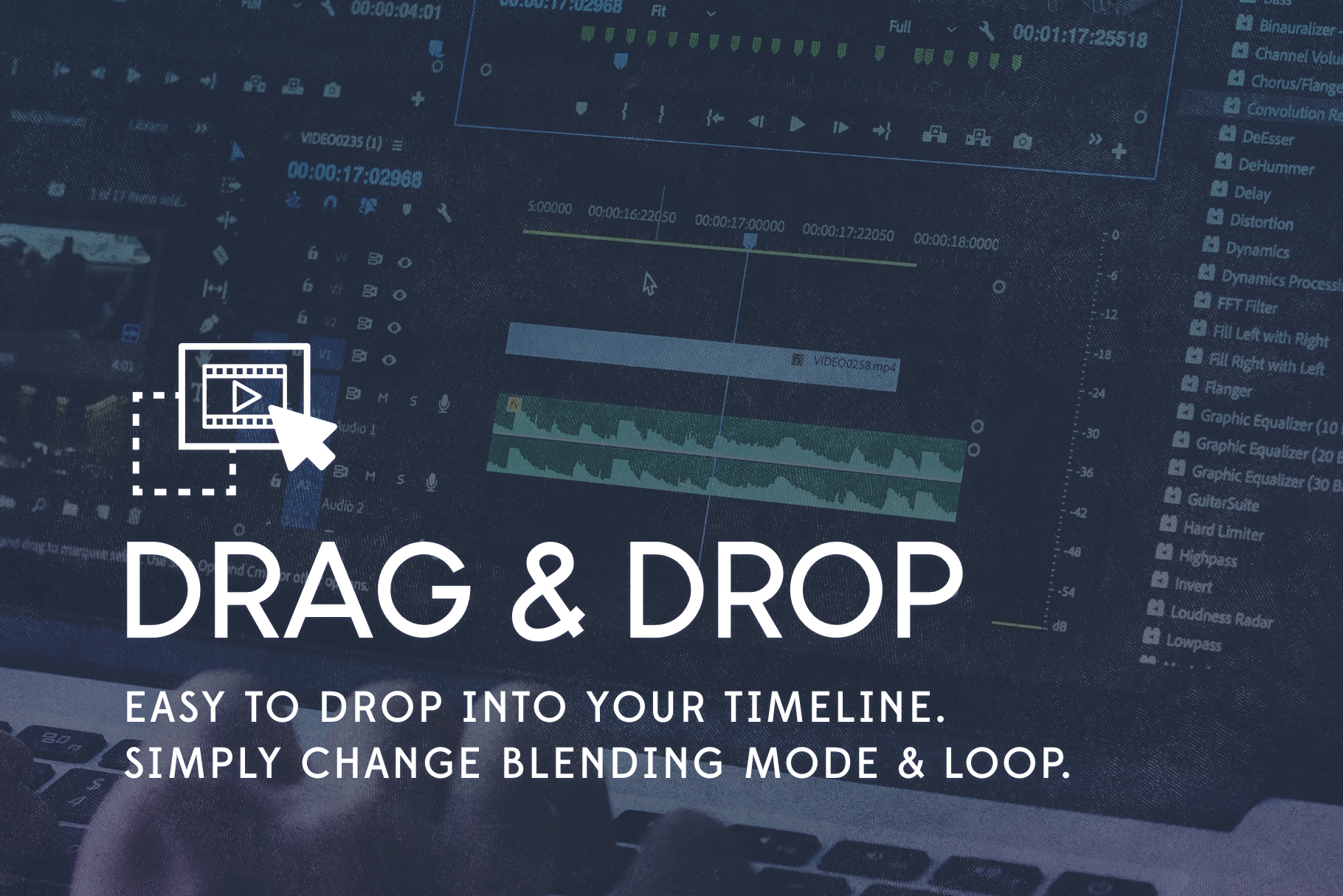 drag and drop textures for video