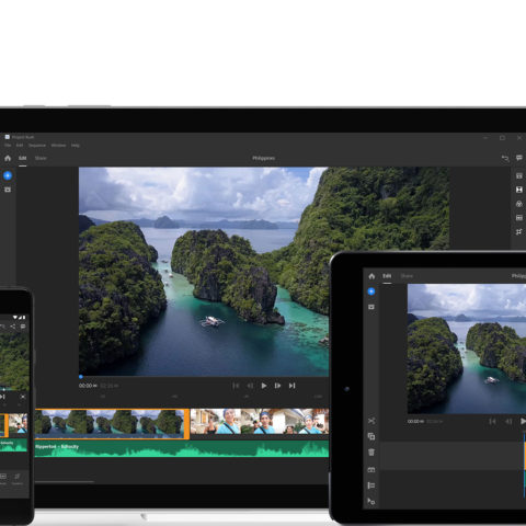 Adobe Premiere Rush CC video editing program cross device