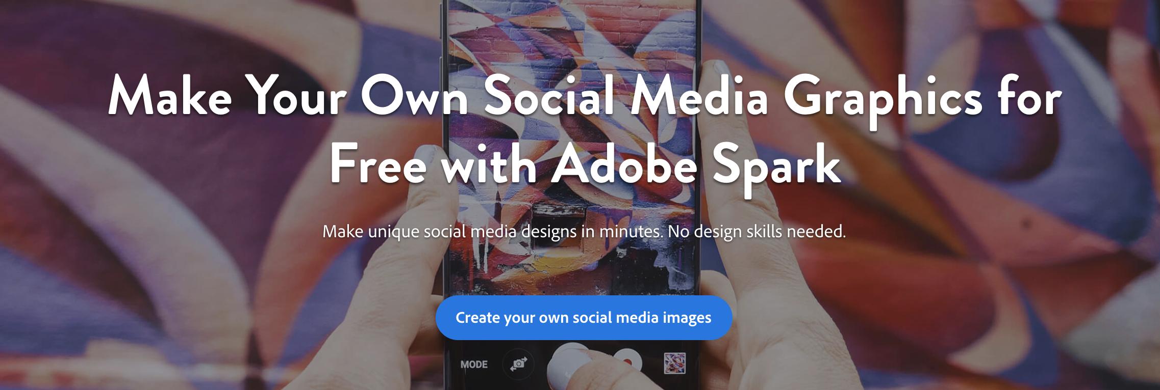 adobe spark social media