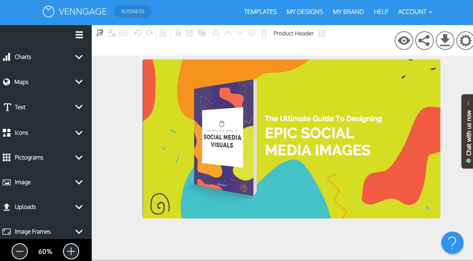 venngage social media tool