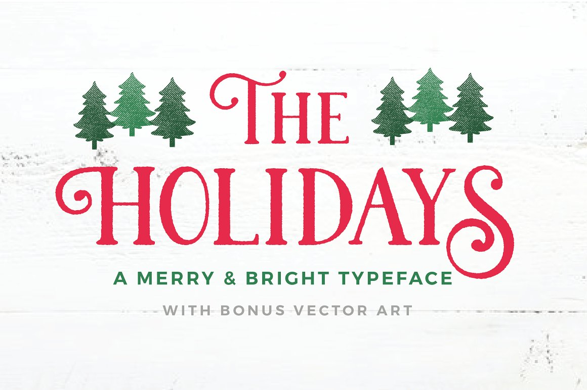 the holidays christmas typeface