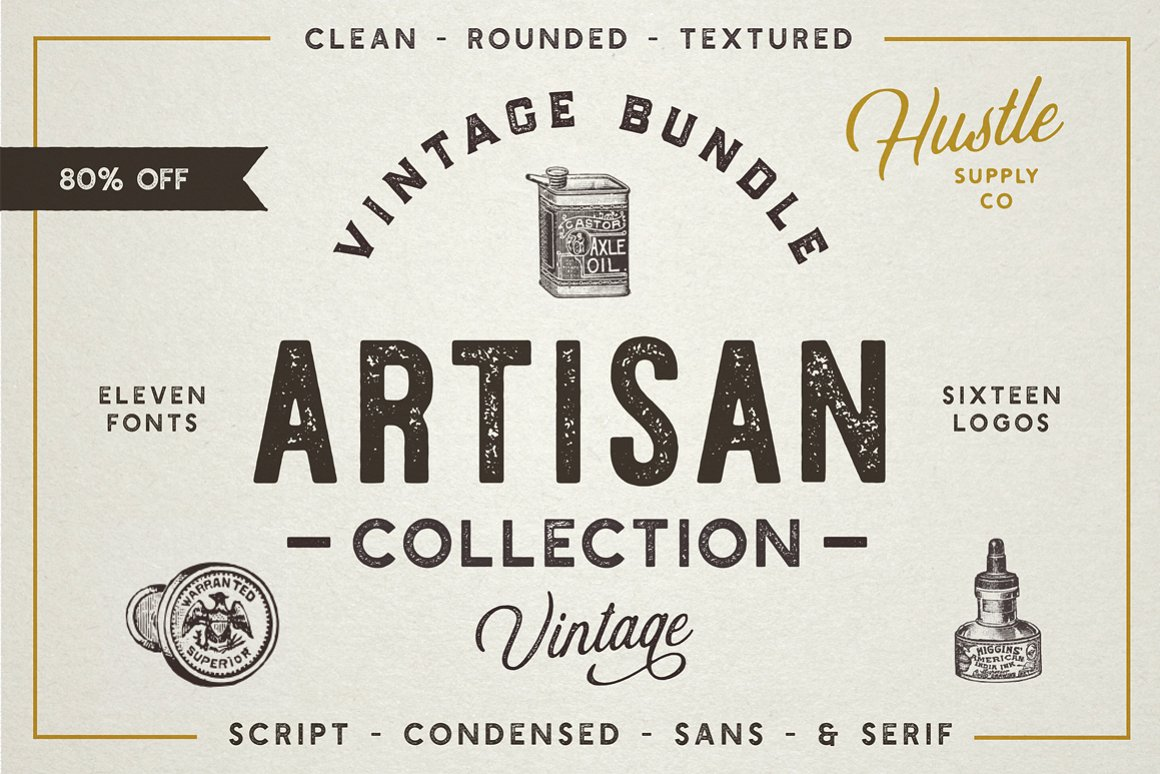 artisan collection vintage fonts