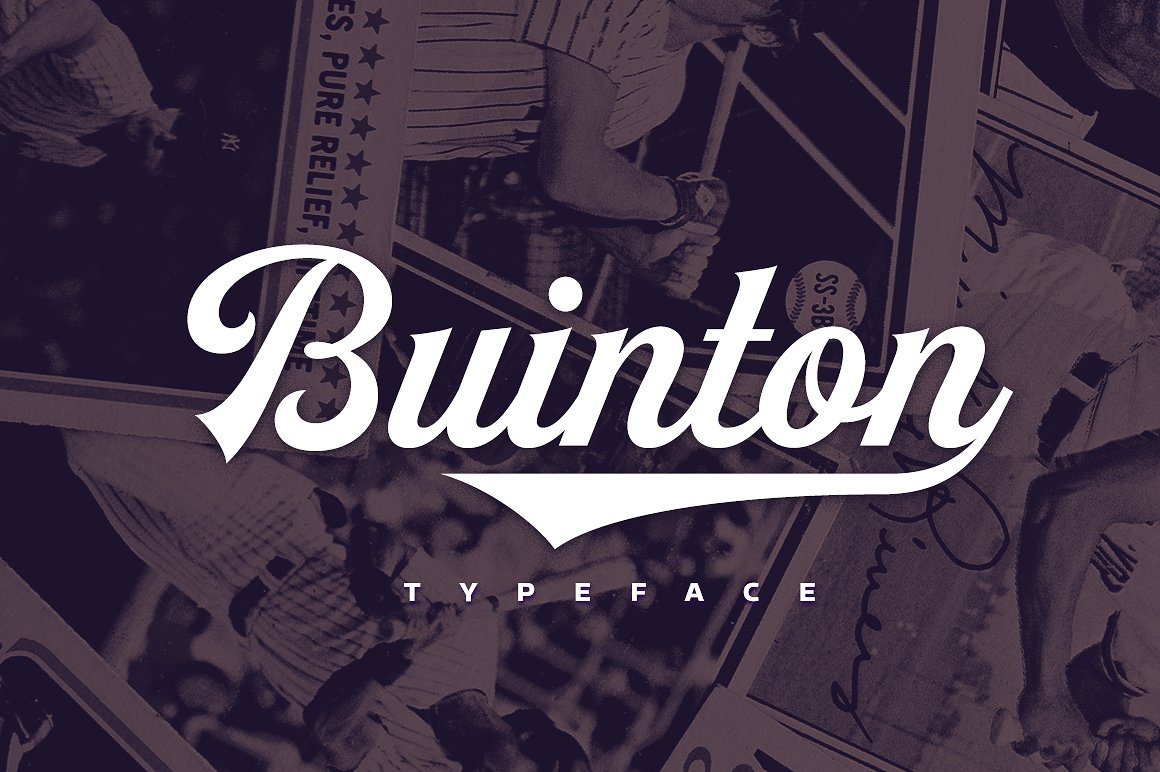buinton script poster font